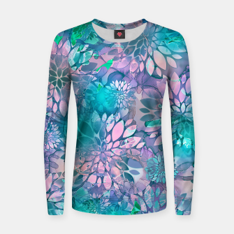 Imagen en miniatura de Painted Background Floral Pattern Woman cotton sweater, Live Heroes