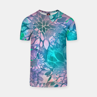 Thumbnail image of Painted Background Floral Pattern T-shirt, Live Heroes