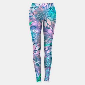 Painted Background Floral Pattern Leggings imagen en miniatura