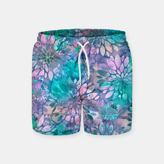 Painted Background Floral Pattern Swim Shorts imagen en miniatura