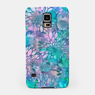 Painted Background Floral Pattern Samsung Case imagen en miniatura