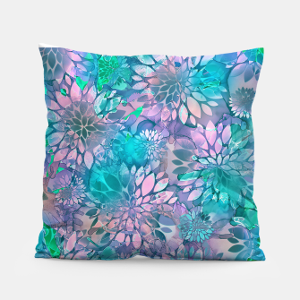 Painted Background Floral Pattern Pillow imagen en miniatura