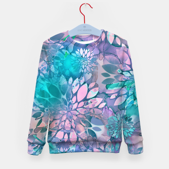 Painted Background Floral Pattern Kid's sweater imagen en miniatura