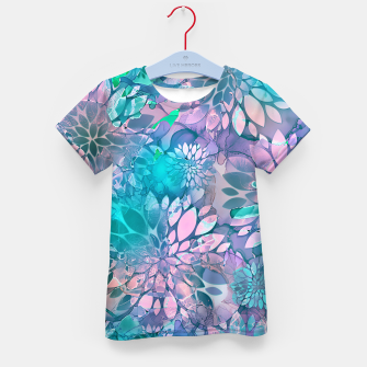Painted Background Floral Pattern Kid's t-shirt imagen en miniatura