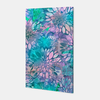 Painted Background Floral Pattern Canvas imagen en miniatura