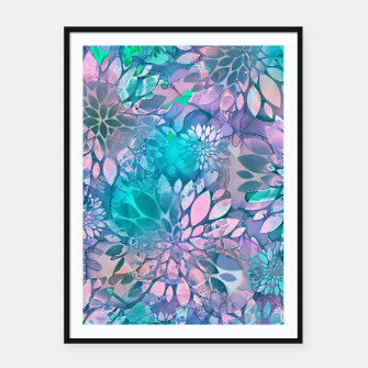 Painted Background Floral Pattern Framed poster imagen en miniatura
