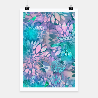 Painted Background Floral Pattern Poster imagen en miniatura