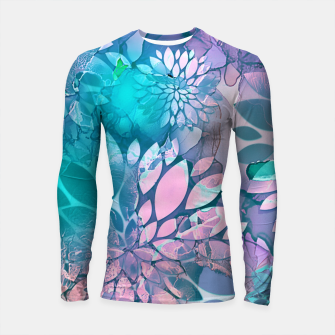 Painted Background Floral Pattern Longsleeve rashguard  imagen en miniatura
