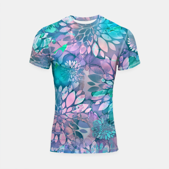 Painted Background Floral Pattern Shortsleeve rashguard imagen en miniatura