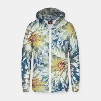 Dahlias 2 Cotton zip up hoodie imagen en miniatura