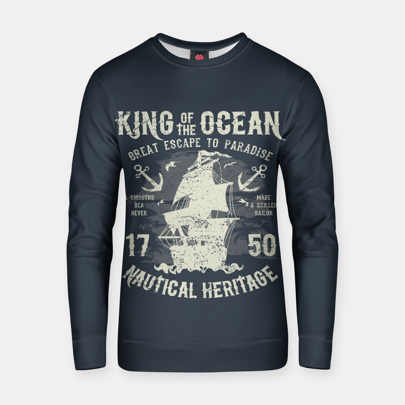 Zdjęcie King of the Ocean Cotton sweater - Live Heroes