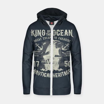 King of the Ocean Cotton zip up hoodie obraz miniatury