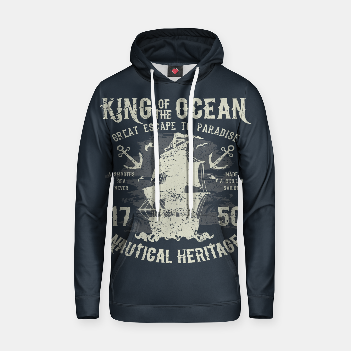 Zdjęcie King of the Ocean Cotton hoodie - Live Heroes