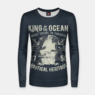 King of the Ocean Woman cotton sweater obraz miniatury