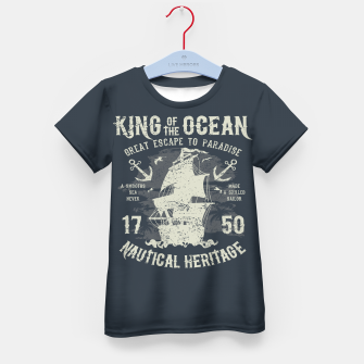 King of the Ocean Kid's t-shirt obraz miniatury