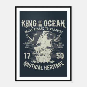King of the Ocean Framed poster obraz miniatury