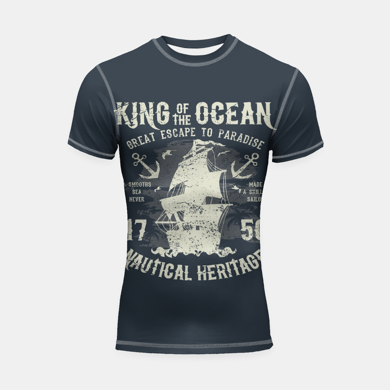 Zdjęcie King of the Ocean Shortsleeve rashguard - Live Heroes