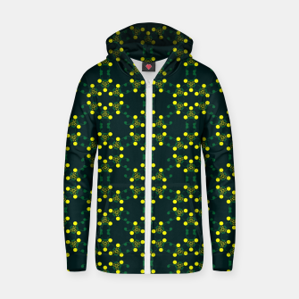 Miniaturka Yellow Points Circles Cotton zip up hoodie, Live Heroes