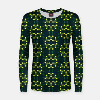 Miniaturka Yellow Points Circles Woman cotton sweater, Live Heroes