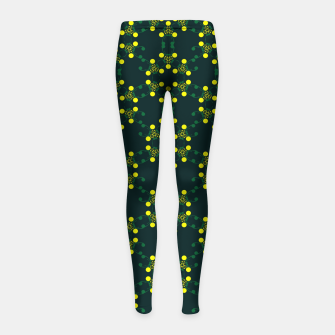 Miniaturka Yellow Points Circles Girl's leggings, Live Heroes