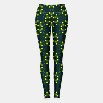 Miniaturka Yellow Points Circles Leggings, Live Heroes