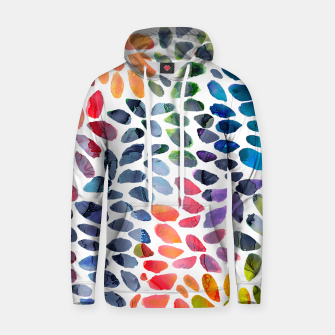 Imagen en miniatura de Colorful Painted Drops Cotton hoodie, Live Heroes