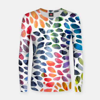 Imagen en miniatura de Colorful Painted Drops Woman cotton sweater, Live Heroes