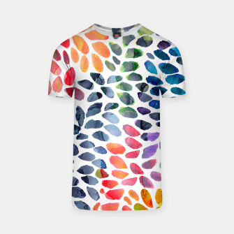 Imagen en miniatura de Colorful Painted Drops T-shirt, Live Heroes