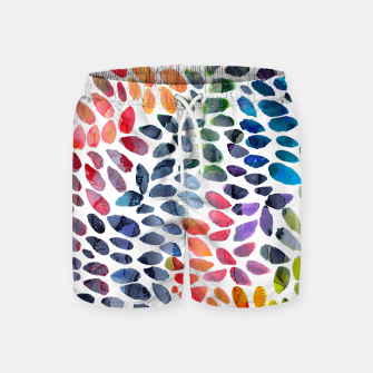Imagen en miniatura de Colorful Painted Drops Swim Shorts, Live Heroes