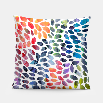 Imagen en miniatura de Colorful Painted Drops Pillow, Live Heroes