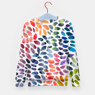 Imagen en miniatura de Colorful Painted Drops Kid's sweater, Live Heroes