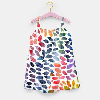 Imagen en miniatura de Colorful Painted Drops Girl's dress, Live Heroes