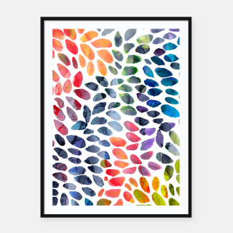 Colorful Painted Drops Framed poster imagen en miniatura