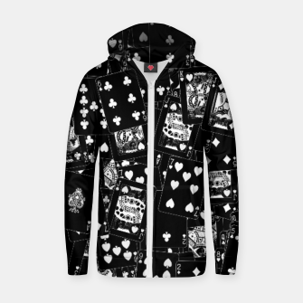 Thumbnail image of Suits You BLACK Cotton zip up hoodie, Live Heroes