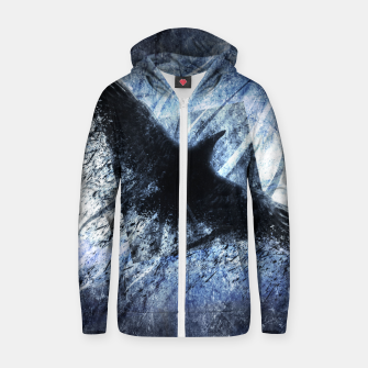Thumbnail image of Winter Winds are Cold and Heartless Baumwoll reißverschluss kapuzenpullover, Live Heroes