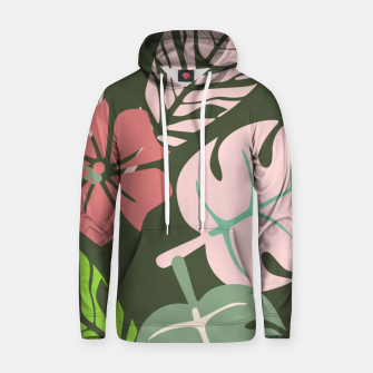 Thumbnail image of Tropical leaves green and pink paradises  #homedecor #apparel #tropical Cotton hoodie, Live Heroes