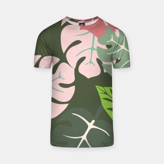 Thumbnail image of Tropical leaves green and pink paradises  #homedecor #apparel #tropical T-shirt, Live Heroes