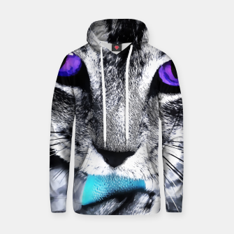 Purple eyes cat Cotton hoodie obraz miniatury
