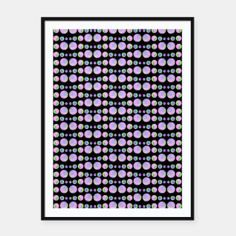 Thumbnail image of Beads Pattern Framed poster, Live Heroes