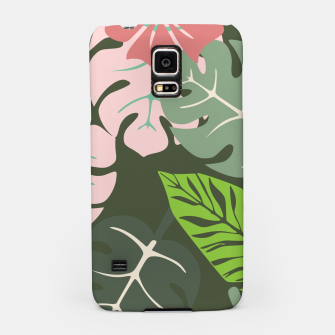 Thumbnail image of Tropical leaves green and pink paradises  #homedecor #apparel #tropical Samsung Case, Live Heroes