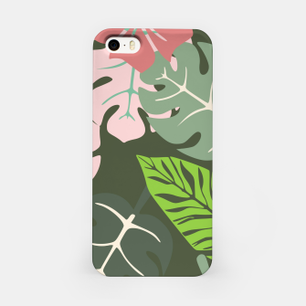 Thumbnail image of Tropical leaves green and pink paradises  #homedecor #apparel #tropical iPhone Case, Live Heroes