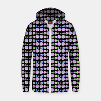 Thumbnail image of Beads Pattern Cotton zip up hoodie, Live Heroes