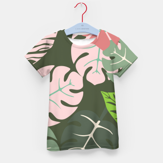 Thumbnail image of Tropical leaves green and pink paradises  #homedecor #apparel #tropical Kid's t-shirt, Live Heroes