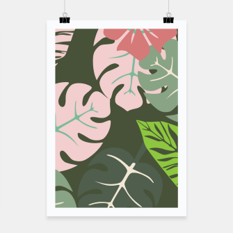 Thumbnail image of Tropical leaves green and pink paradises  #homedecor #apparel #tropical Poster, Live Heroes