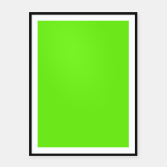 Thumbnail image of Apple Green Flat Color Framed poster, Live Heroes