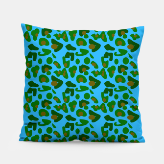 Thumbnail image of Design pillow exotic blue green Exotico wild, Live Heroes