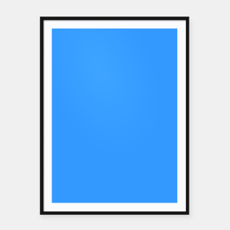Thumbnail image of Azure Flat Color Framed poster, Live Heroes