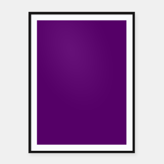 Thumbnail image of Eggplant Flat Color Framed poster, Live Heroes