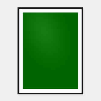Thumbnail image of Forest Green Flat Color Framed poster, Live Heroes