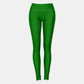 Thumbnail image of Forest Green Flat Color Leggings, Live Heroes